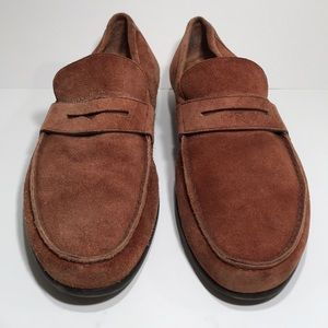 Harry's of London suede penny loafers.